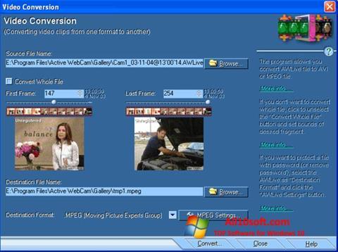 Screenshot Active WebCam für Windows 10