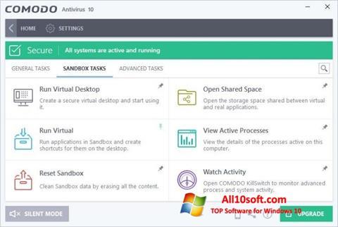 Screenshot Comodo Antivirus für Windows 10
