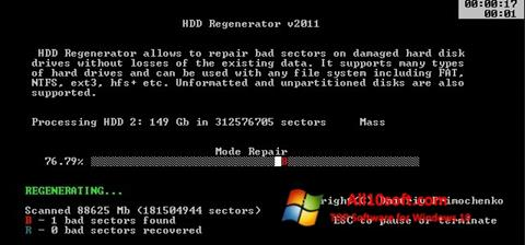 Screenshot HDD Regenerator für Windows 10