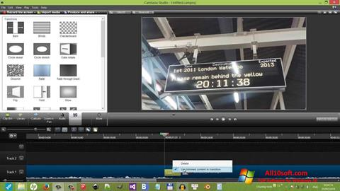 Screenshot Camtasia Studio für Windows 10
