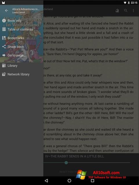 Screenshot FBReader für Windows 10