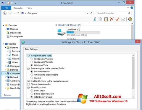 Screenshot Classic Shell für Windows 10