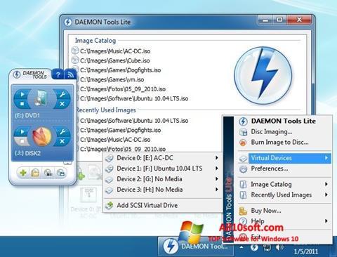 Screenshot DAEMON Tools Lite für Windows 10