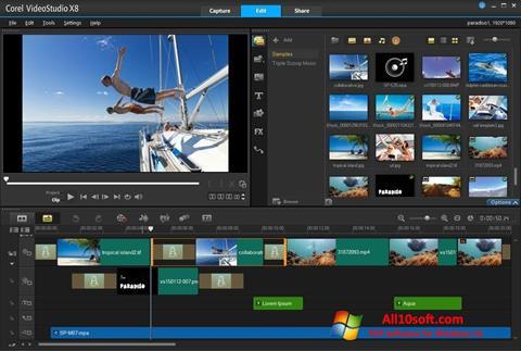 Screenshot Corel VideoStudio für Windows 10