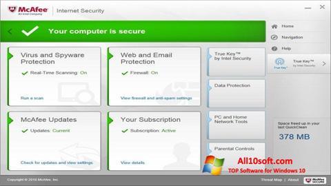 Screenshot McAfee für Windows 10