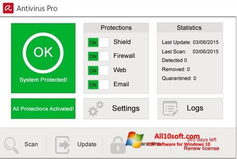 Screenshot Avira Antivirus Pro für Windows 10