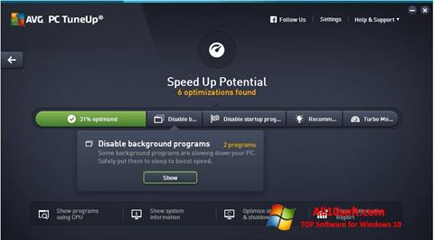Screenshot AVG PC Tuneup für Windows 10