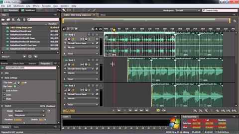 Screenshot Adobe Audition CC für Windows 10