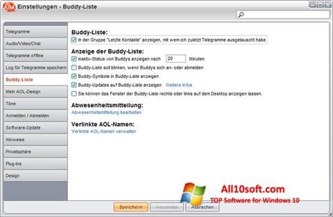 Screenshot AOL Instant Messenger für Windows 10