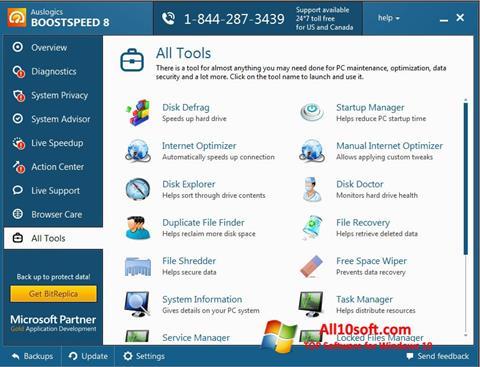 Screenshot Auslogics BoostSpeed für Windows 10