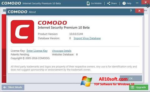 Screenshot Comodo für Windows 10