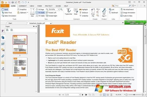 Screenshot Foxit Reader für Windows 10