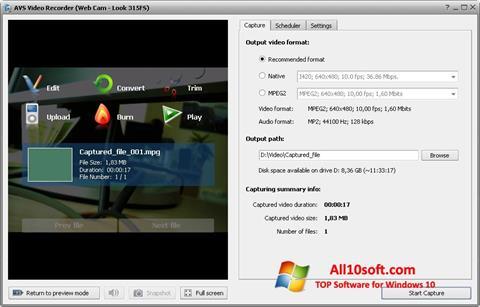 Screenshot AVS Video Recorder für Windows 10