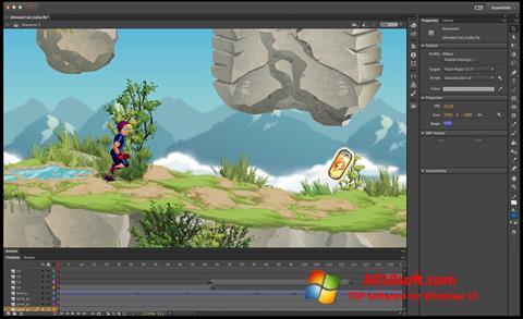 Screenshot Adobe Flash Professional für Windows 10