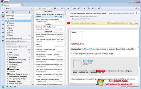 Screenshot Opera Mail für Windows 10