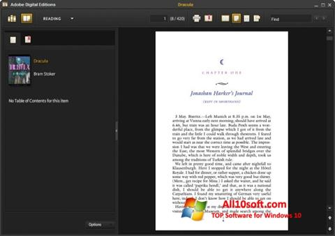 Screenshot Adobe Digital Editions für Windows 10