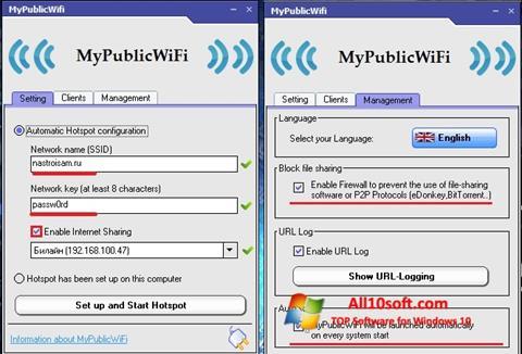 Screenshot MyPublicWiFi für Windows 10