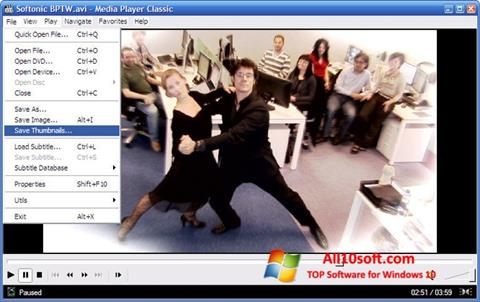 Screenshot Media Player Classic für Windows 10