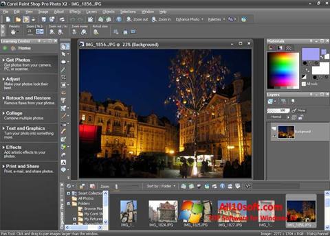 Screenshot PaintShop Pro für Windows 10