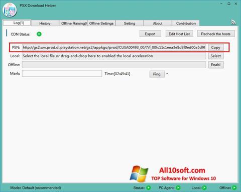 Screenshot DownloadHelper für Windows 10