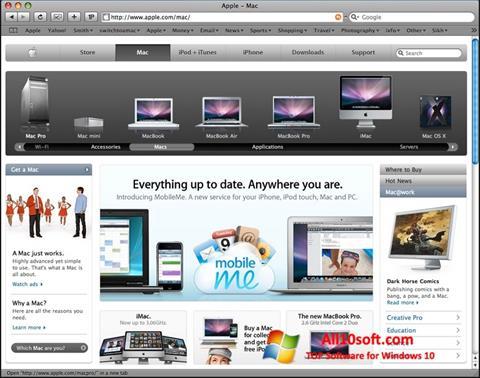 Screenshot Safari für Windows 10