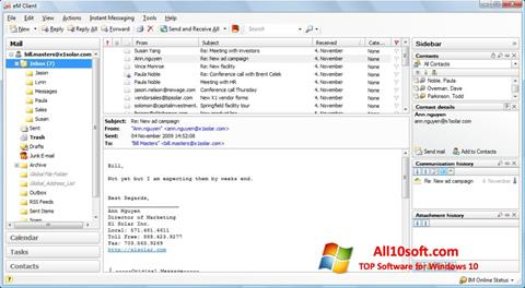 Screenshot eM Client für Windows 10