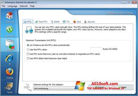 Screenshot Ashampoo Internet Accelerator für Windows 10