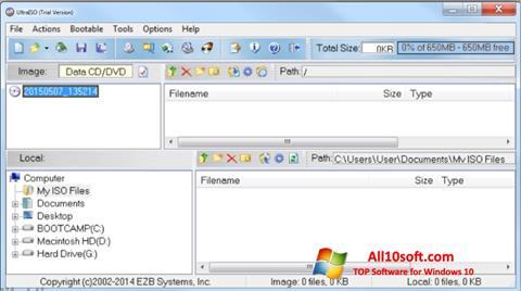 Screenshot UltraISO für Windows 10