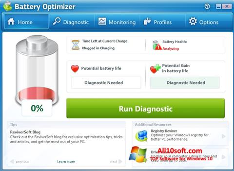 Screenshot Battery Optimizer für Windows 10