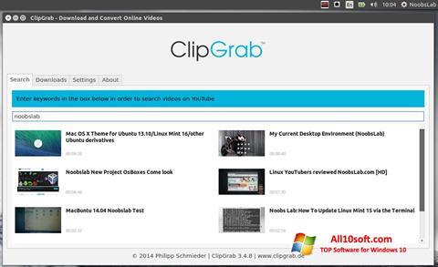 Screenshot ClipGrab für Windows 10