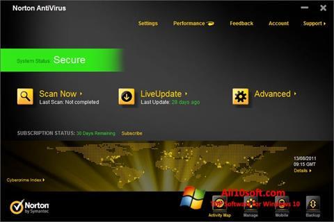Screenshot Norton AntiVirus für Windows 10
