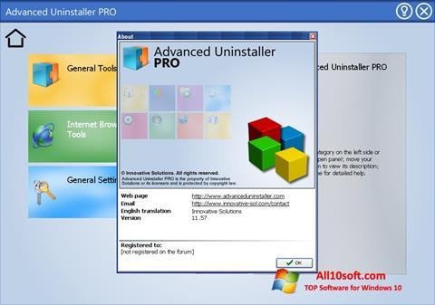 Screenshot Advanced Uninstaller PRO für Windows 10