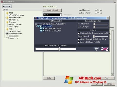 Screenshot ASIO4ALL für Windows 10