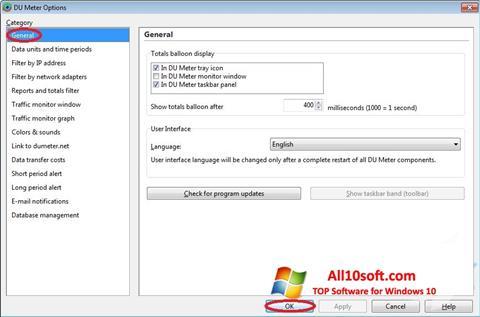 Screenshot DU Meter für Windows 10