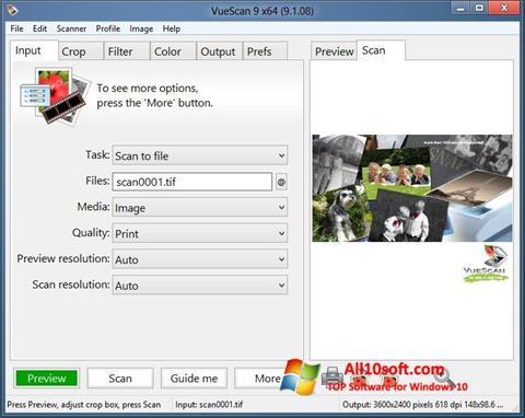 Screenshot VueScan für Windows 10