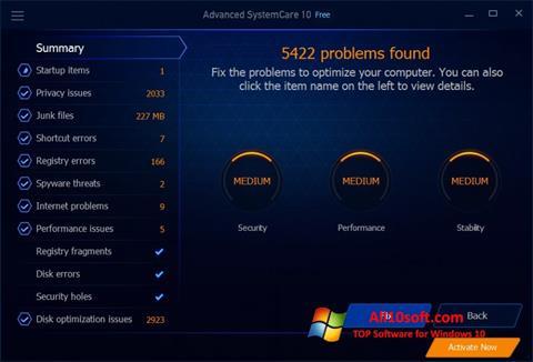 Screenshot Advanced SystemCare Free für Windows 10