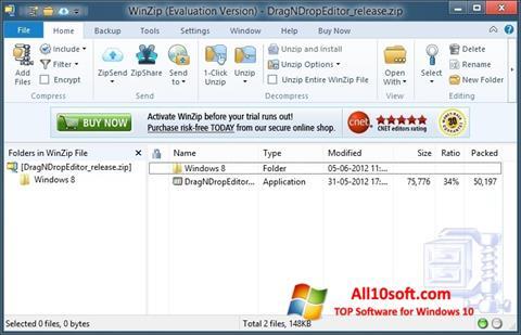 Screenshot WinZip für Windows 10