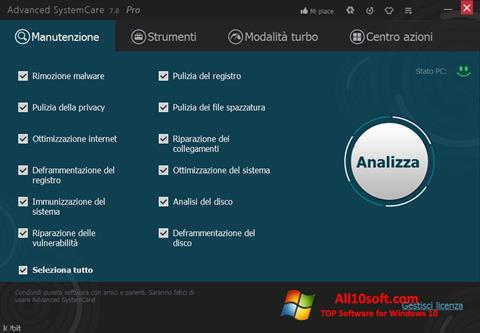 Screenshot Advanced SystemCare Pro für Windows 10