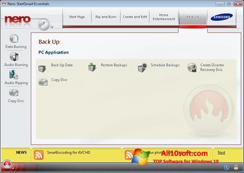 Screenshot Nero für Windows 10