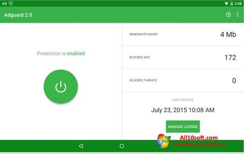 Screenshot Adguard für Windows 10
