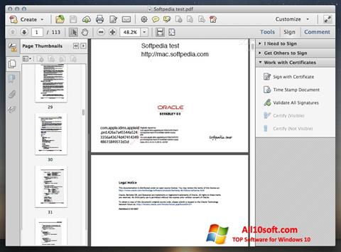 Screenshot Adobe Acrobat für Windows 10