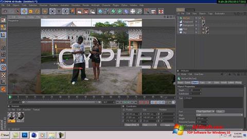 Screenshot CINEMA 4D für Windows 10