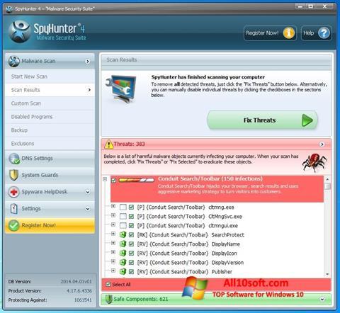 Screenshot SpyHunter für Windows 10