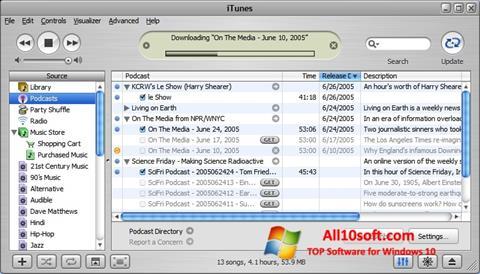 Screenshot iTunes für Windows 10