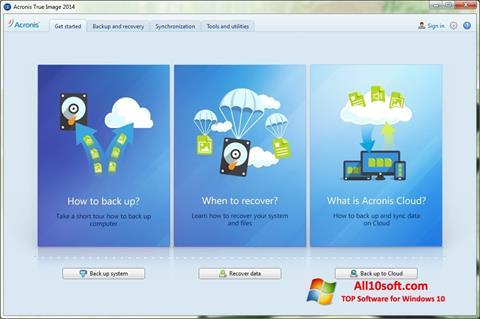 Screenshot Acronis True Image für Windows 10