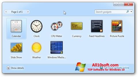 Screenshot 8GadgetPack für Windows 10