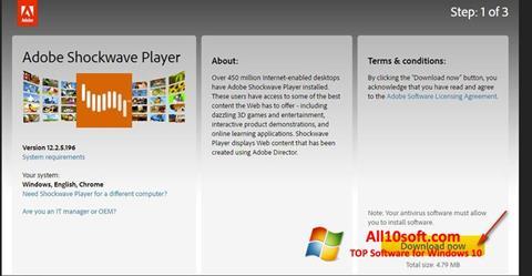 Screenshot Adobe Shockwave Player für Windows 10