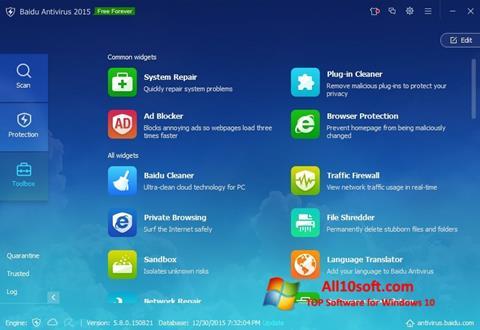 Screenshot Baidu Antivirus für Windows 10
