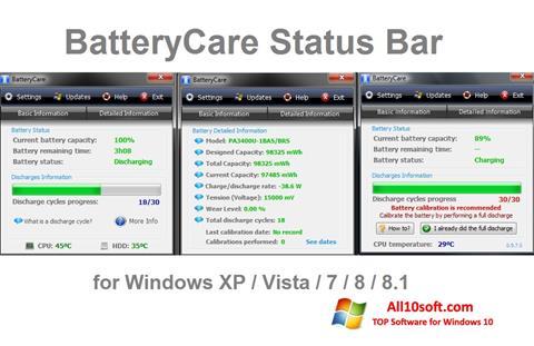 Screenshot BatteryCare für Windows 10