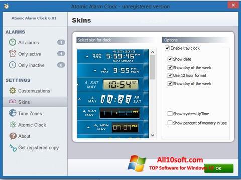 Screenshot Atomic Alarm Clock für Windows 10